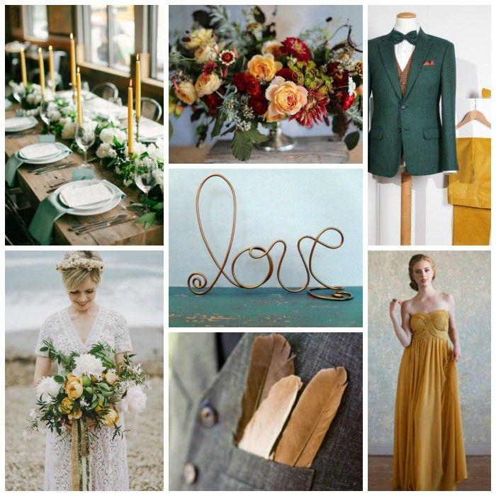 Mustard, Hunter, & Copper Wedding Inspiration from Burgh Brides