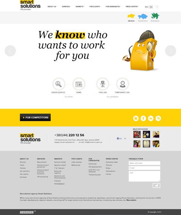 HR-agency / redesign by Anna Kokhan, via Behance