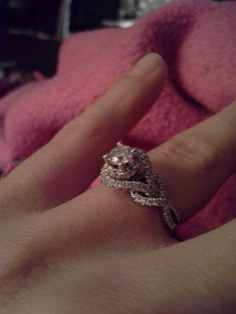My engagement ring! From kay jeweler.