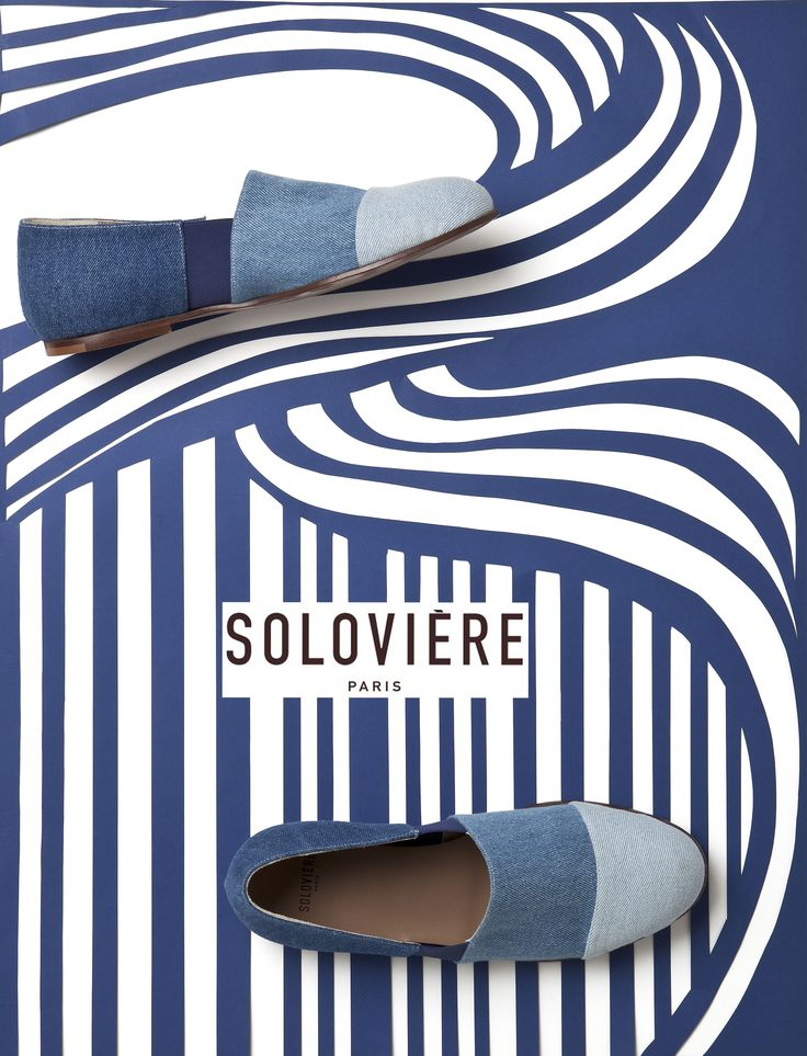 Soloviere slipper shoes  graphic summer 17 campaign #slipper #shoes #footwear #soloviere #blue #graphic