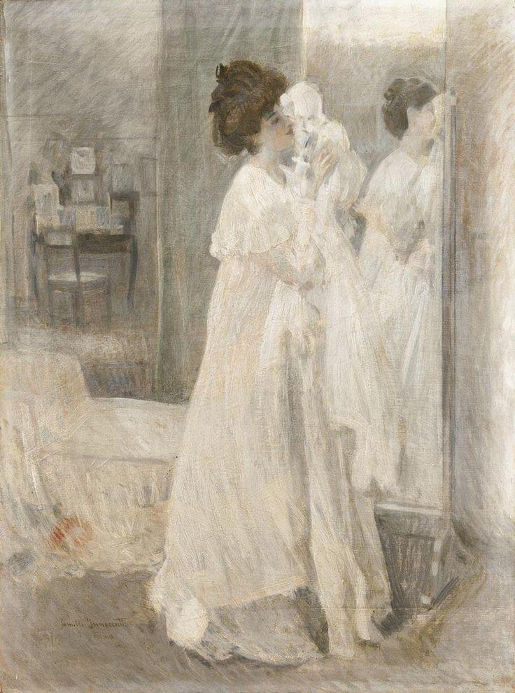 Innocenti, Camillo, (1871-1961), The White Dress