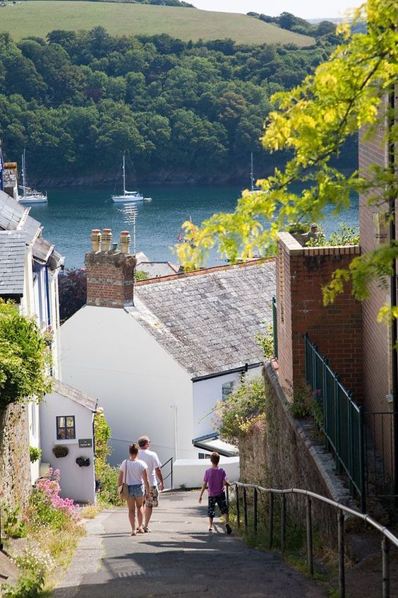 Walk down to Fowey in Cornwall, UK The steep sided valley with it's wooded riverside is a stunning location making the walk back up the hill seem worth it.