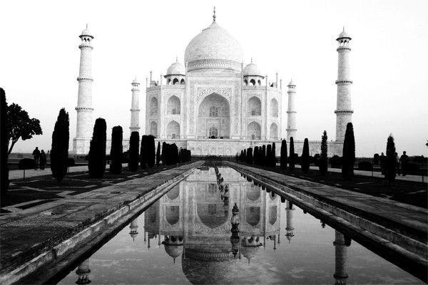 Impression sur Toile - Taj Mahal en Inde