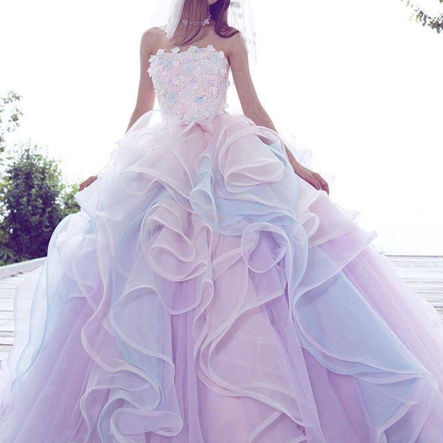 #couturefashion #dress #instafashion  #marryxoxo #marry花嫁 #カラードレス  #ドレス#プレ花嫁 #カクテルドレス #花嫁 #2017春婚 #2017夏婚 #紫陽花#あじさい #グラデーション#きれい#大人可愛い #kiyokohata #キヨコハタ