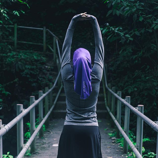 Hijab is not a barrier to an active lifestyle. #beactive #sportshijab #gerakplus #keepactivestaymodest