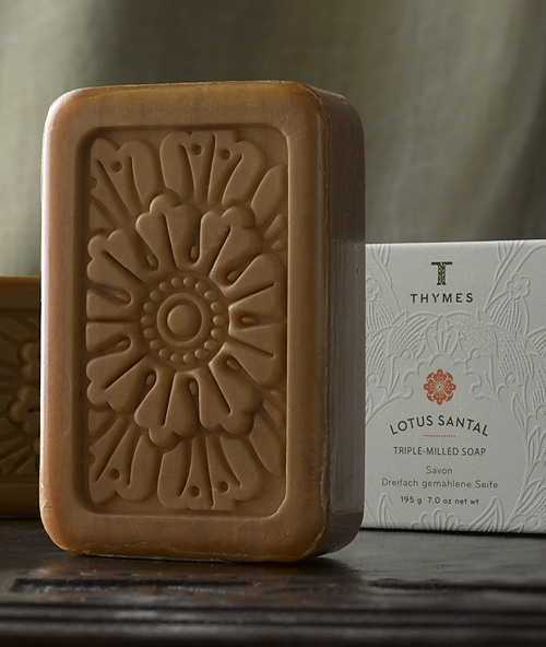New scent from the Thymes..I love it! Pin-It-To-Win-It: Thymes Lotus Santal Bar Soap