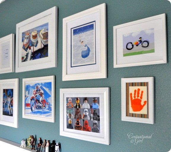 like the idea of framing kids artwork and hanging in their room