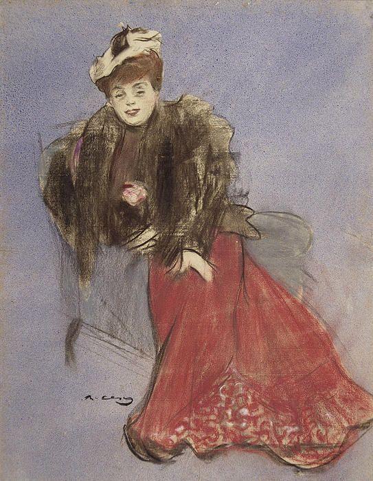 Portrait Of Gabrielle Rejane  Ramon Casas