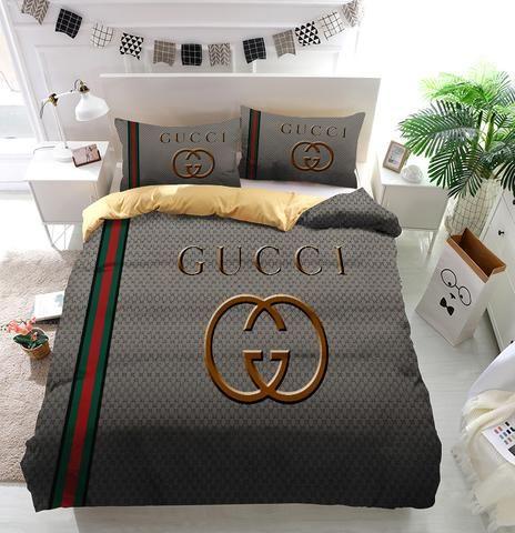 Luxury Gucci Logo Custom Bedding Set Duvet Cover In 2019