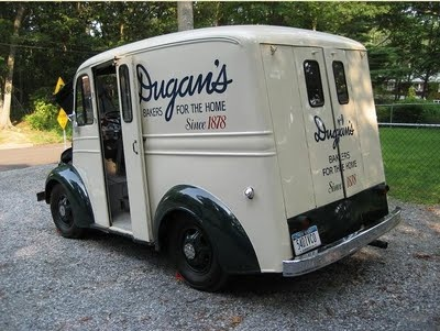 """Sunday coffee cake from the man driving the truck at the shore, and lady fingers delivered at home. We listened for him calling """"Dugan, Dugan, Dugan doughnuts!"""", and we knew sweet treats were coming!"""