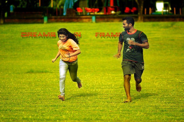Actress Samaara Mirza and Film Director Borhan Khan running on field.