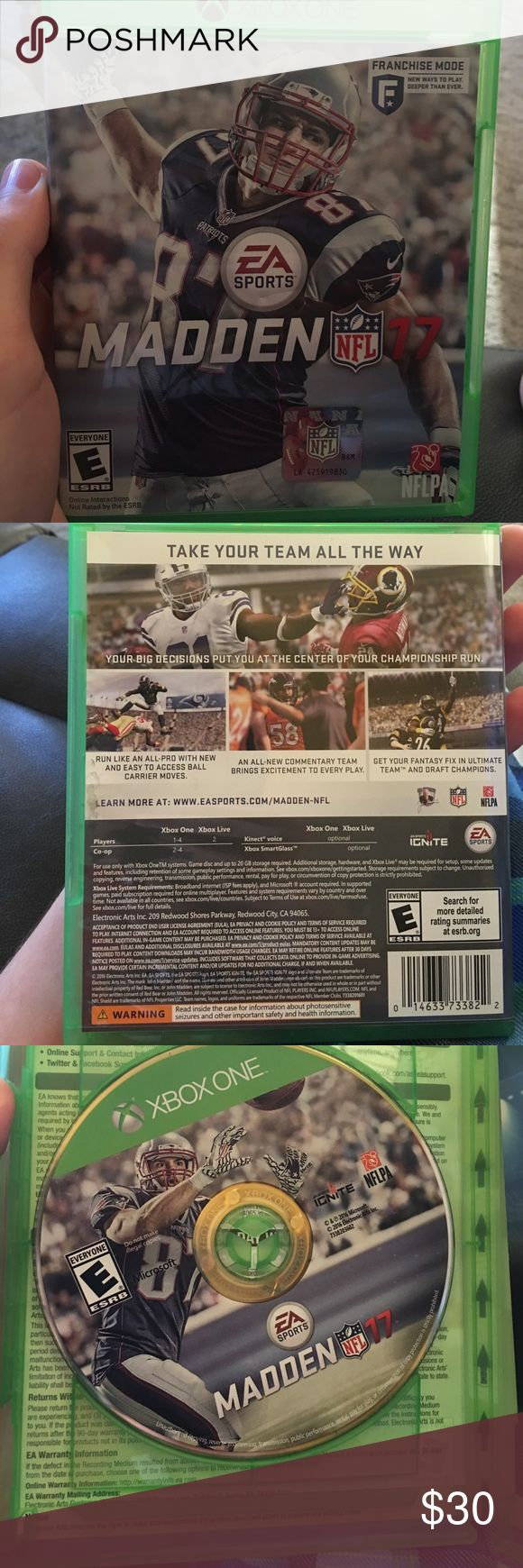 Madden 17 brand new madden 17 for xbox one got as a present and no longer needed nfl Other