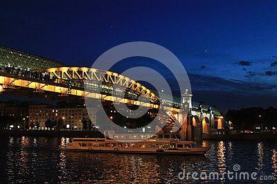 Bridge andrew footbridge motor ship river