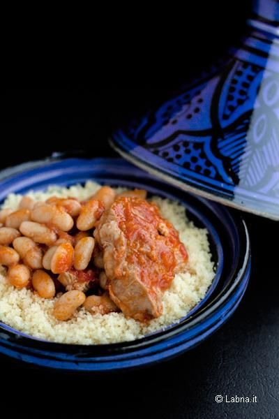 Lubia Bel Kemun - Tunisian, meat with beans in tomato base with cumin - good comfort food!