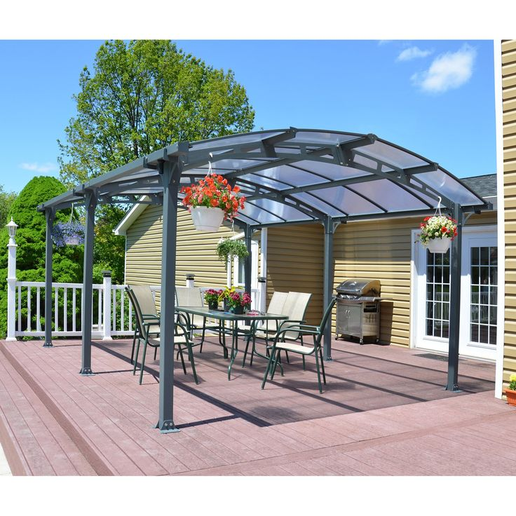 Palram Arcadia Carport Patio Cover Kit   Greenhouses At Hayneedle