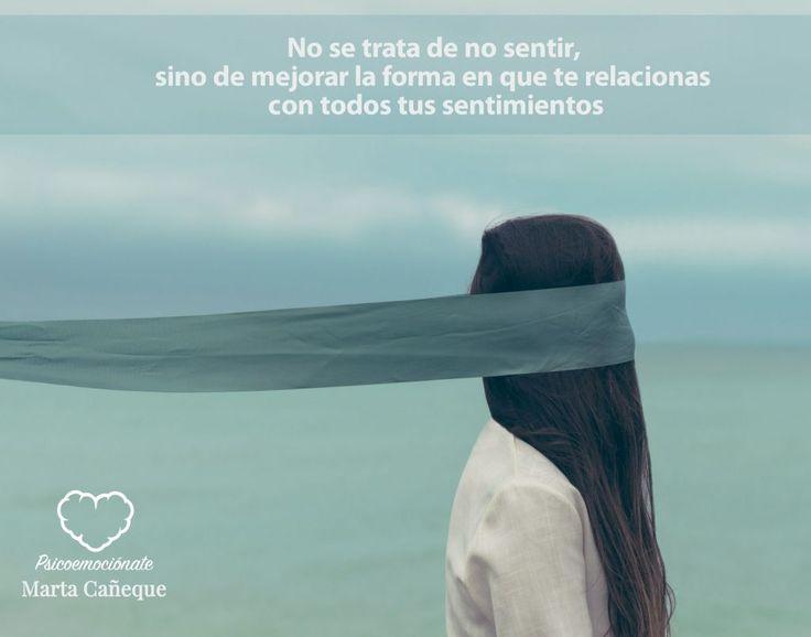 ... No se trata de no sentir, sino de mejorar la forma en que te relacionas con tus sentimientos.