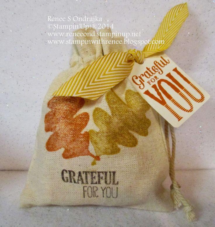 Renee's Rubber Stampin' Ramblings: A Grateful Muslin Bag