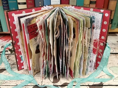 Step-by-step junk journal tutorial: Vintage Junk Journal site.                                                                                                                                                                                 More