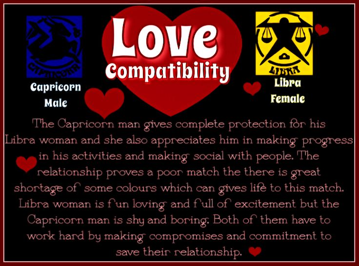 Libra Woman and Capricorn Man Love Compatibility