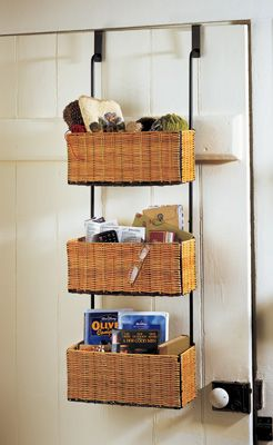 Over-the-Door Hanging Wicker Storage Caddy. Bathroom ... & 54 best clothing rail images on Pinterest | Coat storage Coat ...