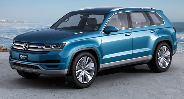 New Volkswagen CrossBlue 6/7-Seater SUV Concept in More Detail [Updated] - Carscoops