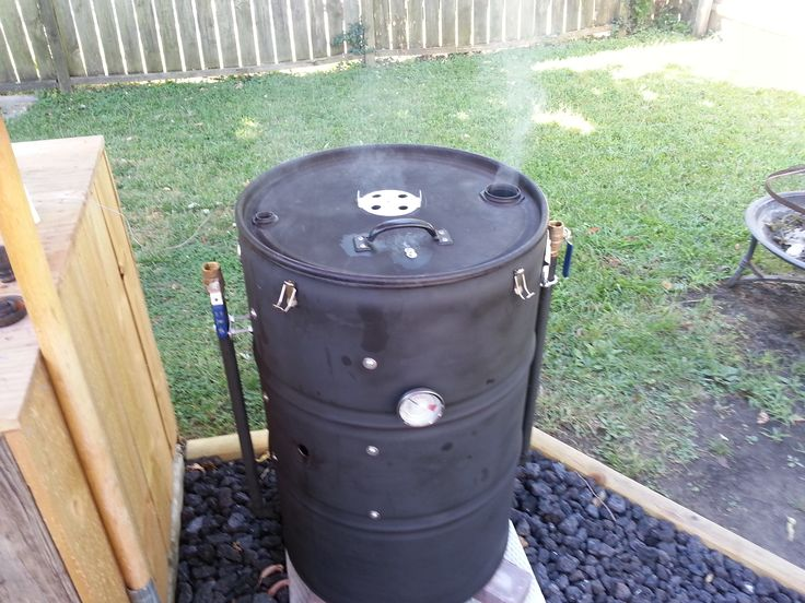 this is my ugly drum smoker uds that i made and. Black Bedroom Furniture Sets. Home Design Ideas