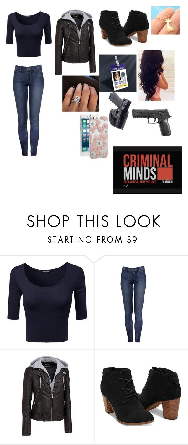 """""""F.b.i"""" by lolz-boyd ❤ liked on Polyvore featuring Wilsons Leather, TOMS, Garcia, Holster, Perfection Beauty and Kate Spade"""