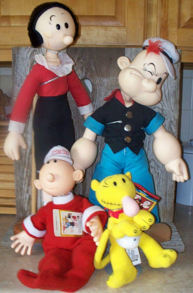 Popeye Olive Oyl Sweet Pea Jeep plush dolls
