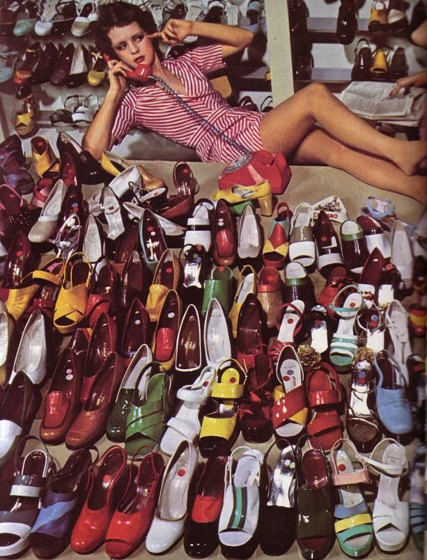 Guy Bourdin + Charles Jourdan. Shoes. Shoes everywhere