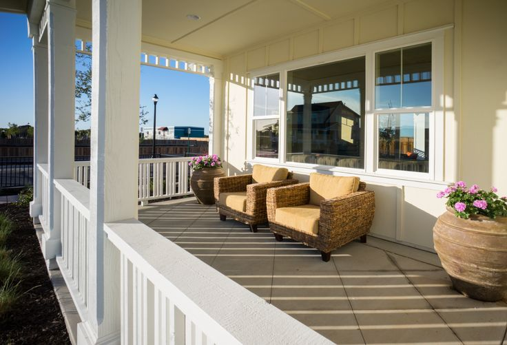 Cambridge Front Porch at East Garrison in #Monterey http://eastgarrison.com/find-your-home/collections/heritage/the-cambridge/