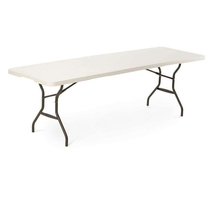 80270 lifetime 8 foot light commercial fold in half for 10 foot banquet table