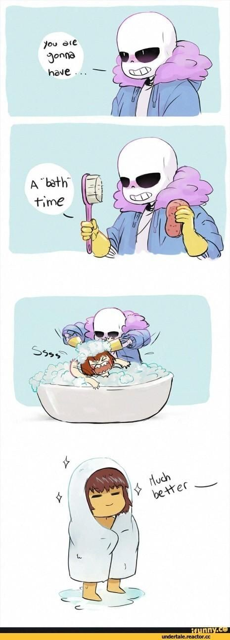 Undertale comic | Sans gives Chara a bad time | they turn into Frisk