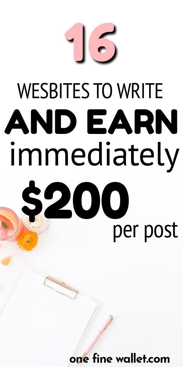 16 Websites zum Schreiben und sofortigen Bezahlen (bis zu 200 US-Dollar pro Webs… – Geld verdienen