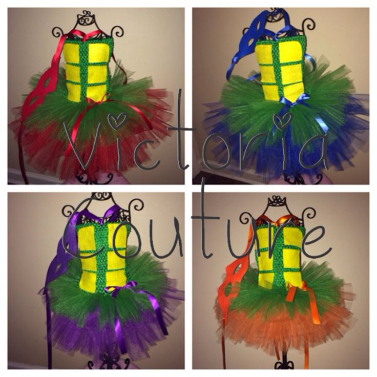 TMNT ninja turtle tutu halloween costume dress with mask by Victoriacouturepink on Etsy