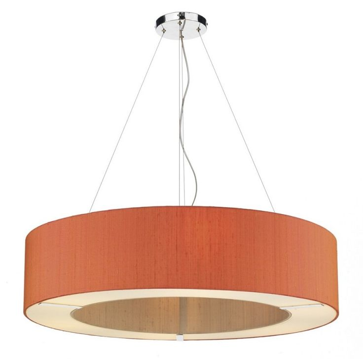 Two Tone Shaded Pendant (Various Colours & Sizes) Bespoke 'Polo' Small Two-Tone pendant shade Fitting. Sold complete with frosted glass diffuser and polished chrome suspension. Available in a choice of colours for both inner and outer rings. Available in a choice of sizes. This pendant shade covers 4 or 6 lampholders offering a high output of ambient light through the open top and bottom glass diffuser.