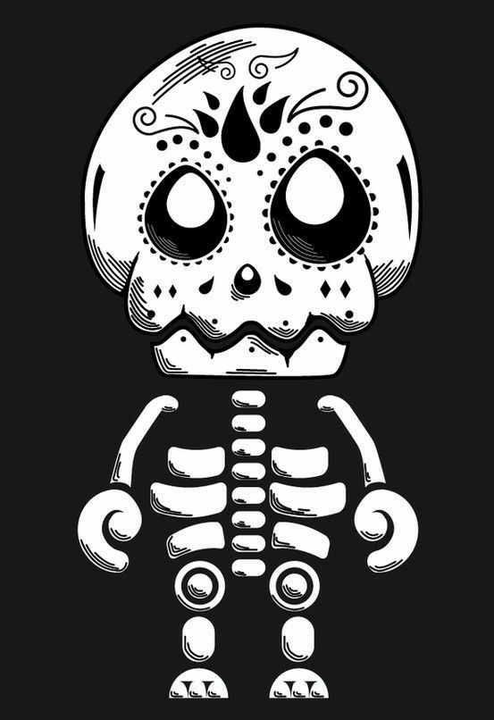 Un lindo esqueletito para decorar en día de muertos. Simpático.  Slvh ❤