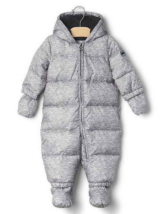 Down snowsuit from Gap.