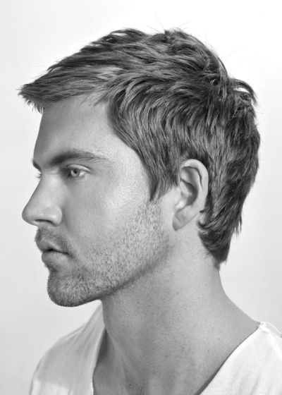 Sexy messy but formal hairstyle for men