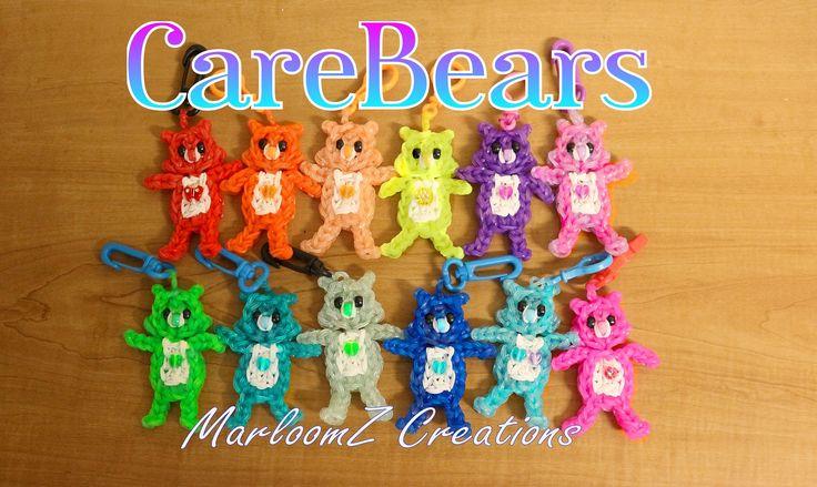 Rainbow Loom Care Bears Tutorial on a Single Loom