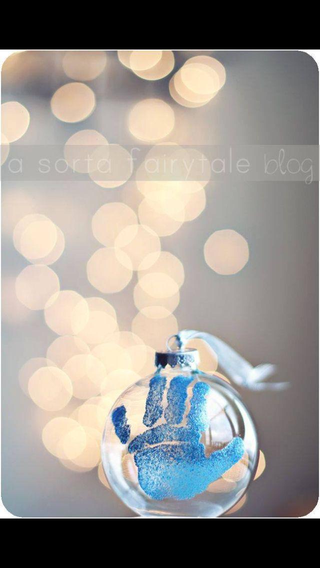 Sødt juletræspynt evt som gave til bedsteforældre :)