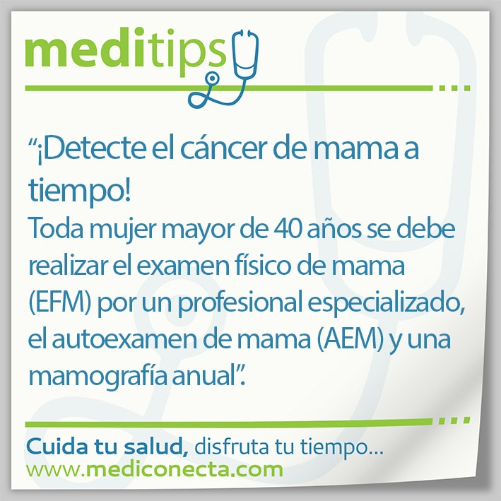 ¡Detecte el cáncer de mama a tiempo!