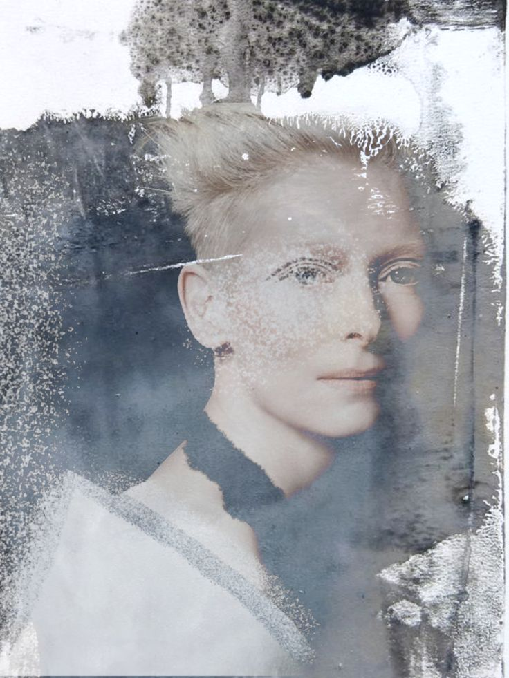 • Tilda Swinton photographed by François Nars • painting by Rebecca Crowell - Belderrig #2 • digital collage by norlaura