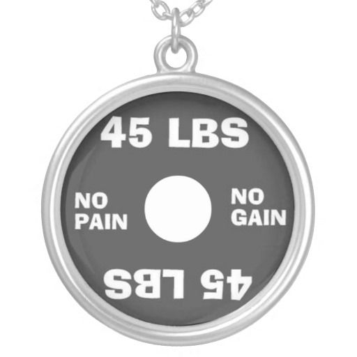 Weightlifting No Pain No Gain Necklace