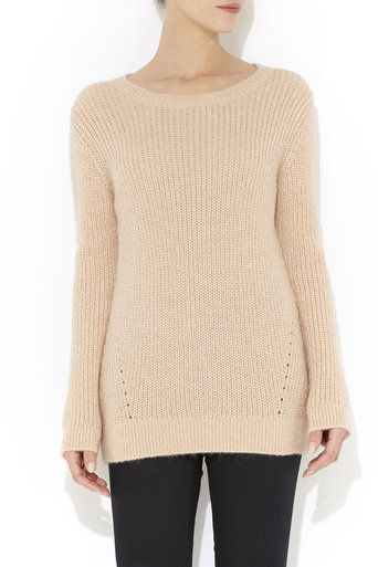 Pink Ribbed Knitted Jumper #MyChristmasStory