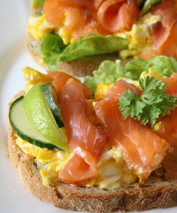 Scrambled eggs and smoked salmon is a fantastic Sunday breakfast