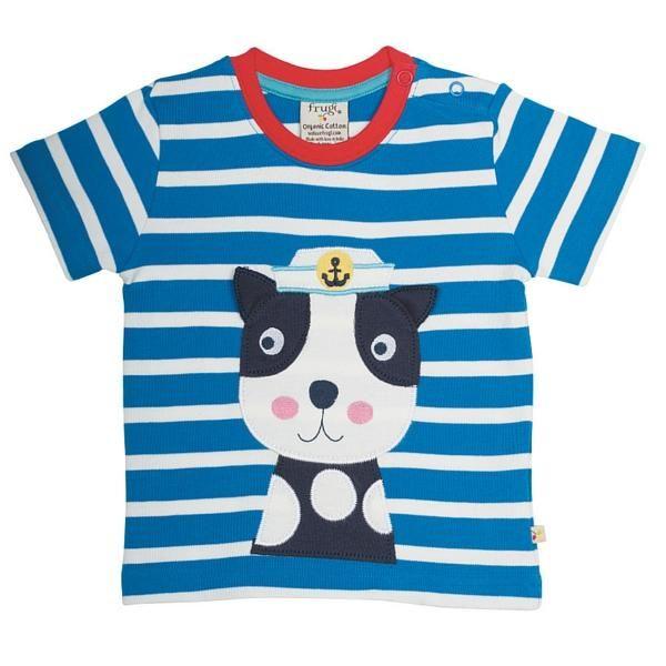 T-Shirt, Little Fal Applique, Diver Blue