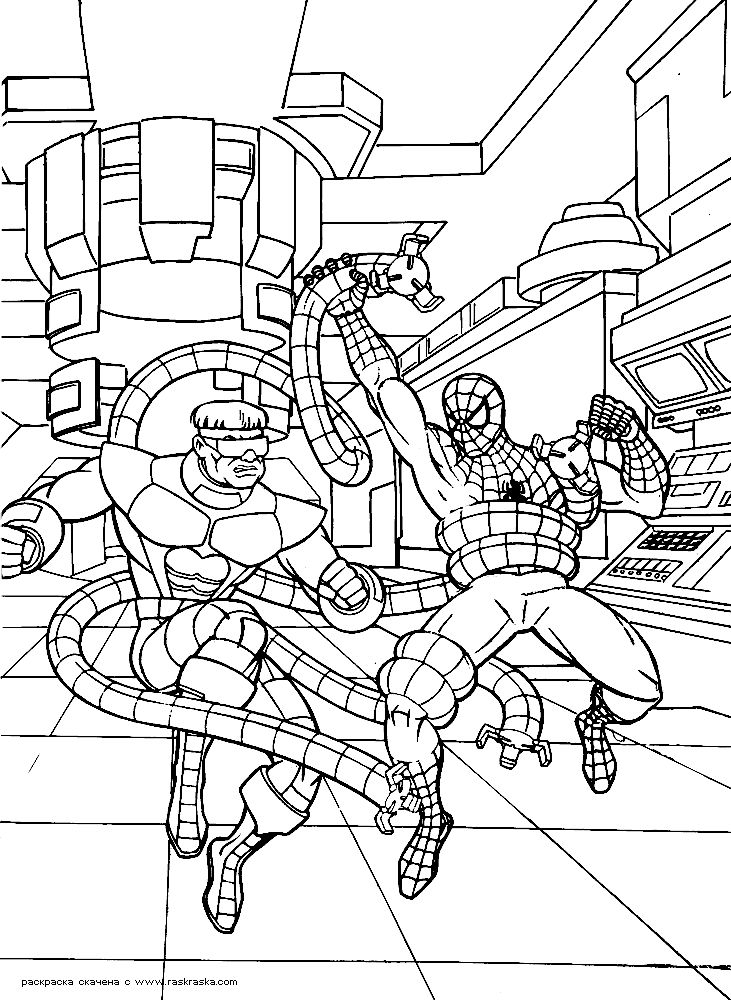 7 best spiderman coloring images