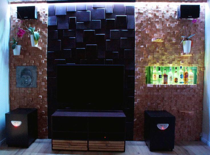 OBI Selbstgemacht! - Beleuchtete TV Wand mit Holzpaneele und integriert... - Selbstgemacht! Community