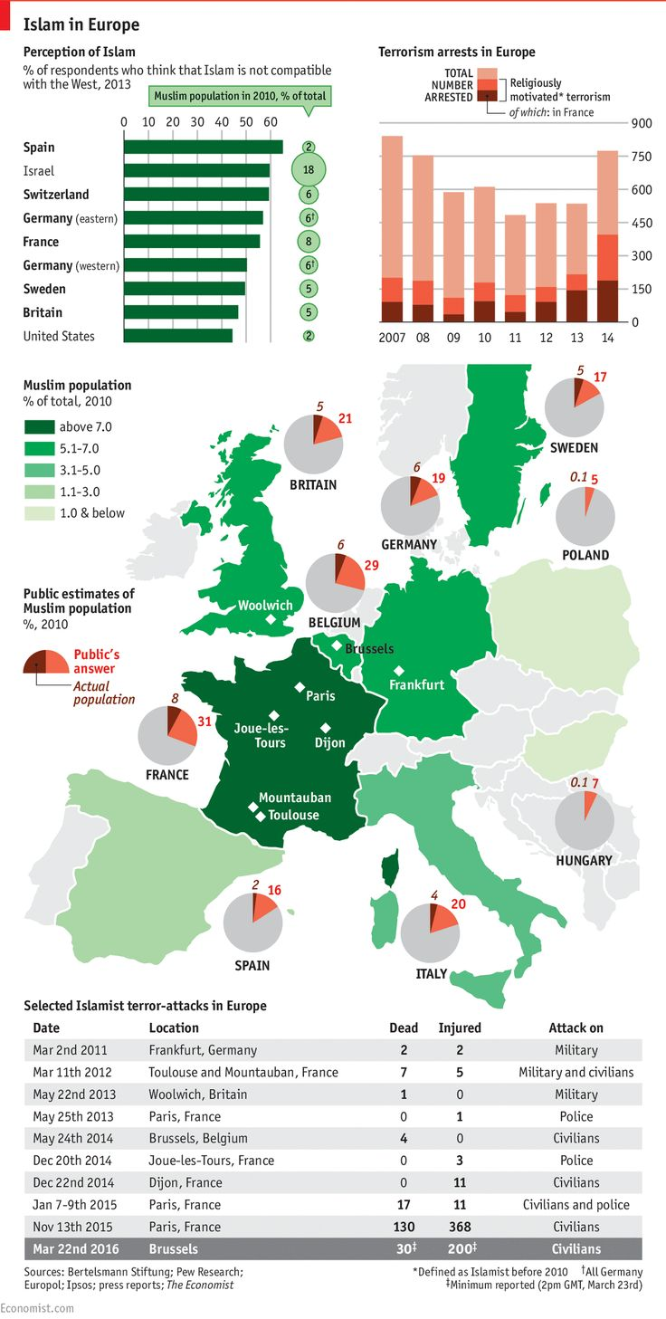 179 best economist images on pinterest economists the economist daily chart islam in europe perception and reality the economist nvjuhfo Choice Image