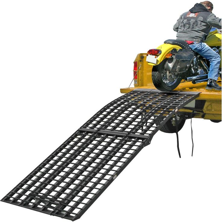 "http://motorcyclespareparts.net/black-widow-108-x-40-aluminum-arched-motorcycle-folding-loading-ramp/Black Widow 108"" x 40"" Aluminum Arched Motorcycle Folding Loading Ramp"